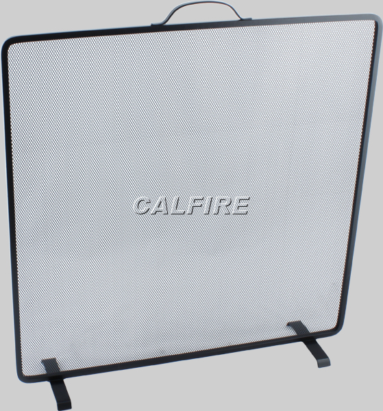 Nobel Flat Square Fire Screen in Black