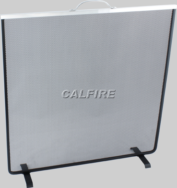 Nobel Flat Square Fire Screen with Aluminium Trim