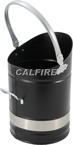Kinton Coal Bucket in Black & Brushed Steel