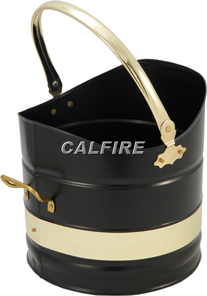 Sutton Coal Bucket in Black & Brass Plated